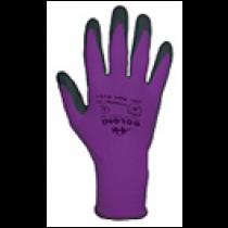 4151 Рукавички трикотажні, фіолетові, нейлон.