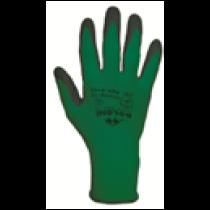 4152 Рукавички трикотажні, зелені, нейлон.