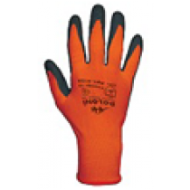 4159 Рукавички трикотажні, оранжеві, нейлон.