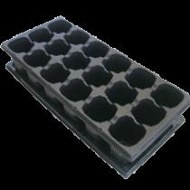 Касета пластикова з піддоном на 18  комірок